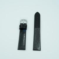 Ремешок для часов Ника 18/16, черный лак, застежка белая, размер М